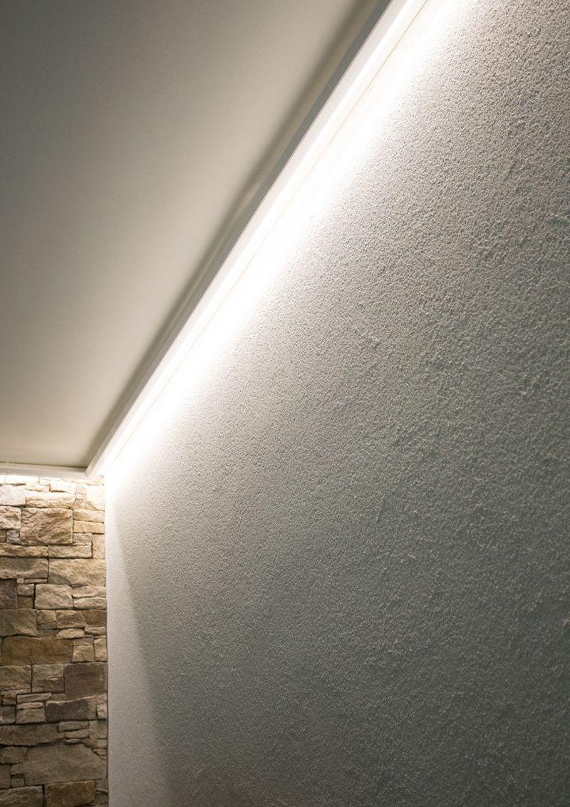 Illuminazione A Soffitto Con Led.Illuminazione Bagno Illuminazione Diffusa Con Strisce Led