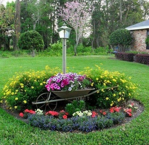 50+ Outdoor Garden Decor Landscaping Flower Beds_19 Pictures