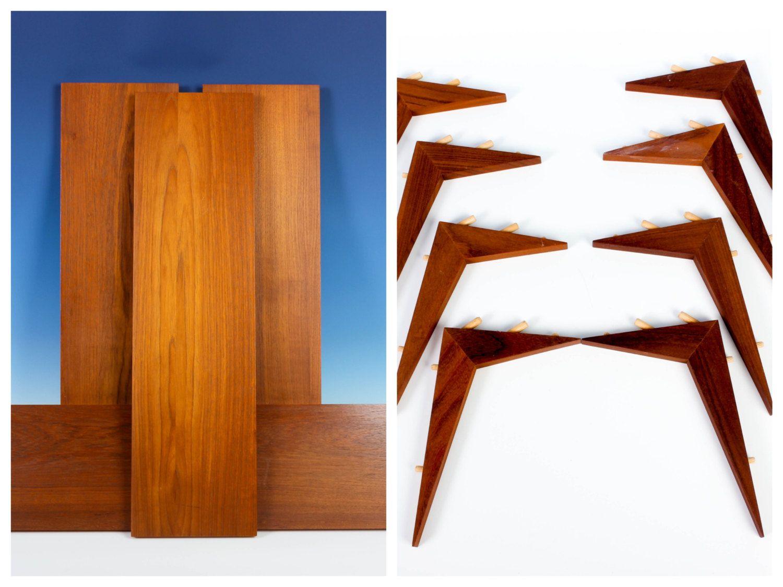 4 Teak Cado Shelves with Brackets - Royal Systems Inc. - 31-1/2\