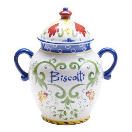 Certified International Amalfi Biscotti Jar