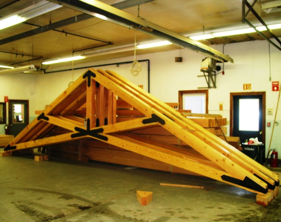Custom Scissor Trusses: Hand Crafted Timber Work   Projects to try