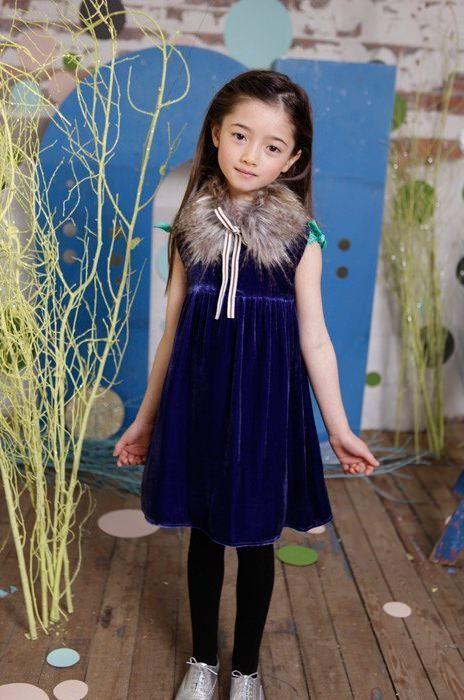 Zapatos para vestido azul nina