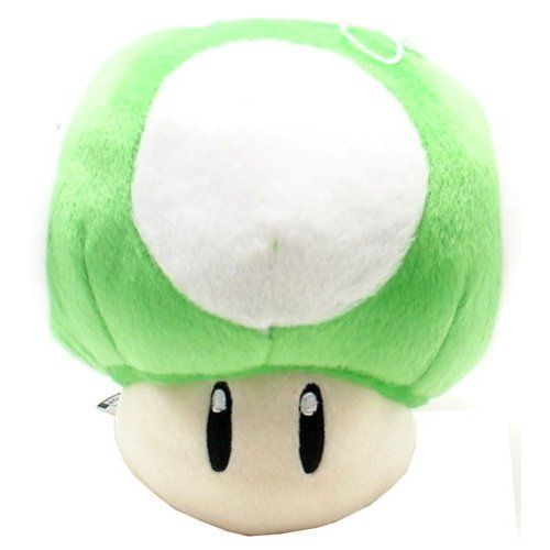 4 99amazon Com Super Mario Brothers Green Mushroom 8 Inch Plush