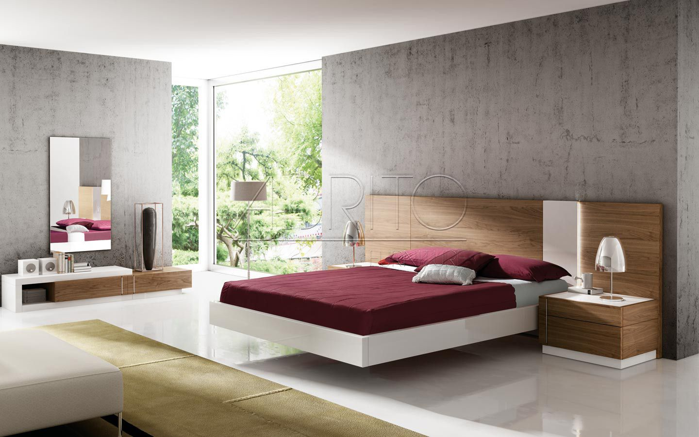 Lacquered made in spain wood modern platform bed with tiles milwaukee - Find This Pin And More On Beds