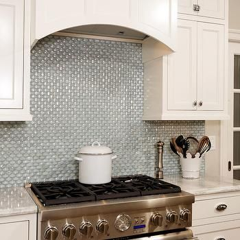 Iridescent Tile Backsplash, Contemporary, kitchen, Harry Braswell