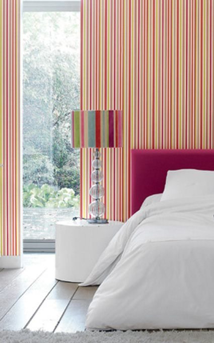 striped wallpaper in the bedroom Bedroom styles, Bedroom