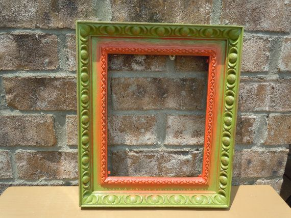vintage plastic square ornate frame upcycled by UpcycledWhimsies, $18.00