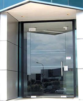 Commercial glass double entry doors with aluminum frames for Commercial exterior doors