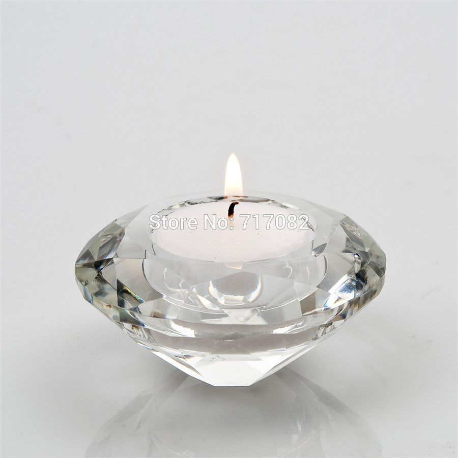 Free shipping crystal candle holder tealight candle holders glass