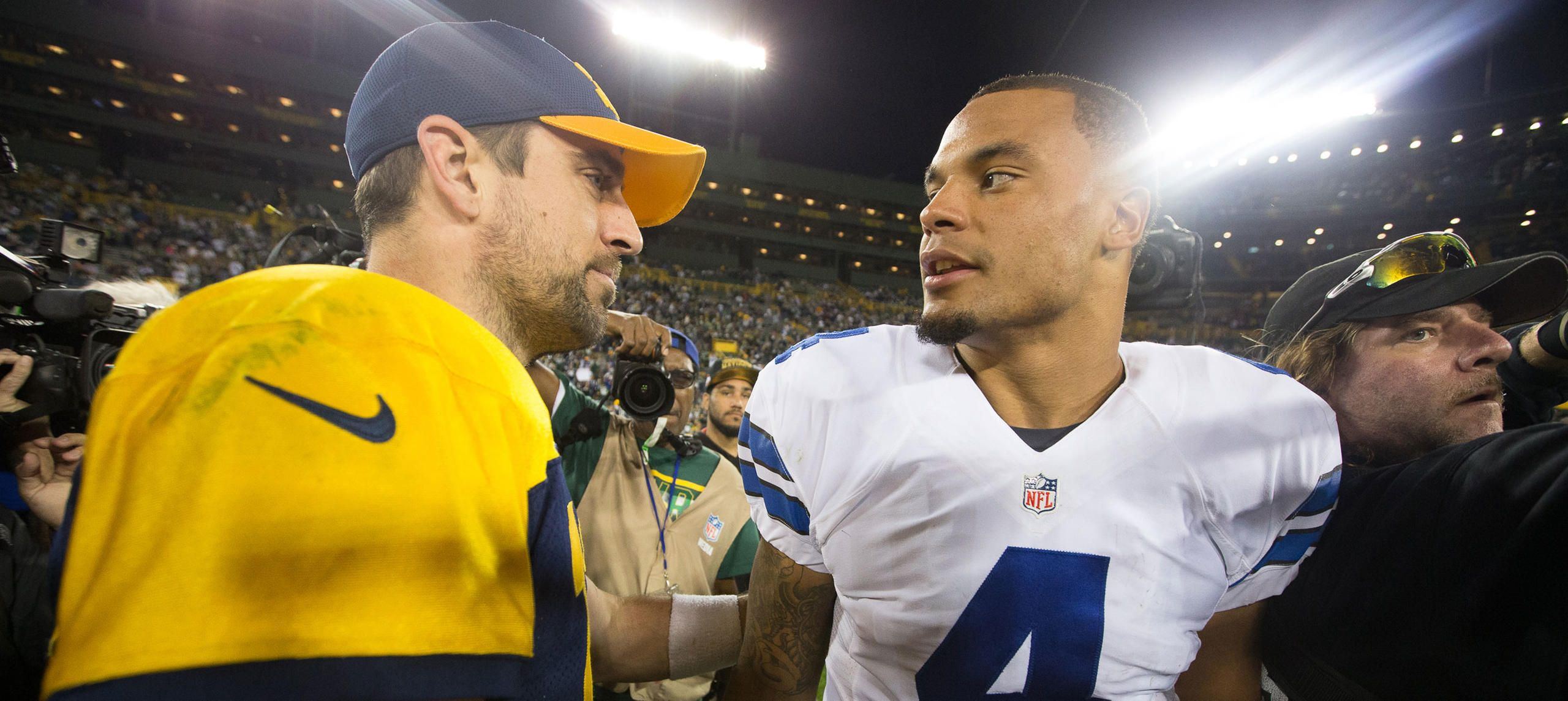Dak S Favorite Aspect Of Rodgers Game Is One Of His Own Strengths Dallas Cowboys New York Giants Frisco Texas