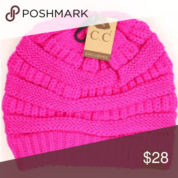60c26634cf39a Neon Pink C.C Beanie 100% acrylic. Will fit all women s sizes. Style  CC Hat-20A  Brand  CC Brand Beanie hat Product Dimensions  8 x 1 x 9 inches C.C ...