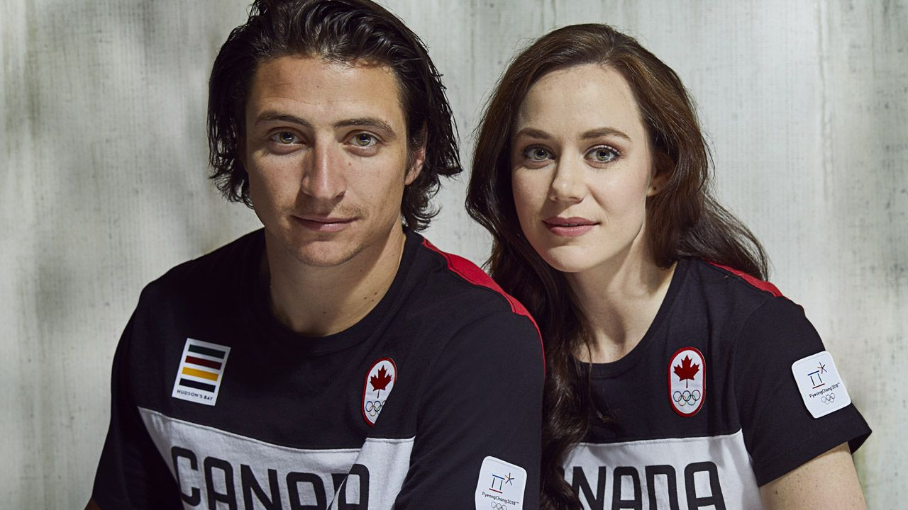 Canadian Flag Bearers Tessa Virtue And Scott Moir Discuss Putting Down Their Beers Returning To Competition And Can Virtue And Moir Scott Moir Tessa And Scott