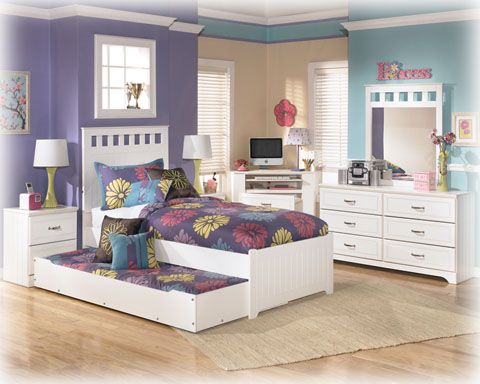Stupendous Kids Bedroom Twin Lulu Bed With Trundle By Ashley Furniture Beutiful Home Inspiration Semekurdistantinfo