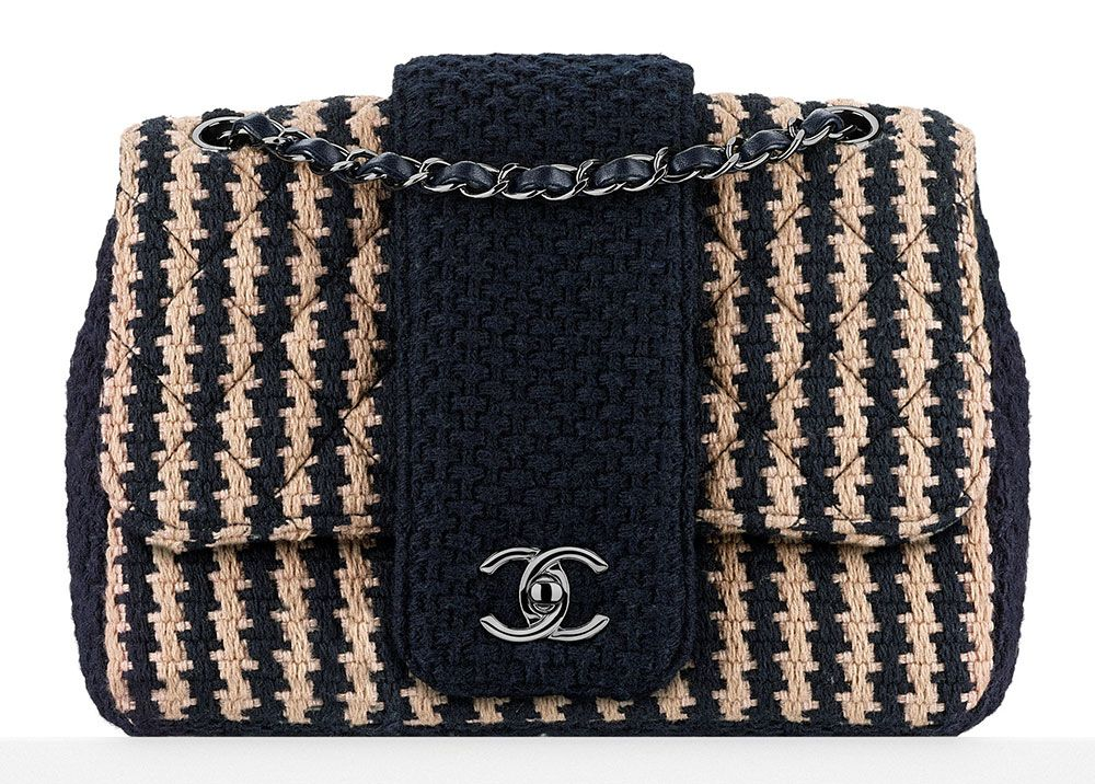 d90d9da1f3b3 Chanel-Tweed-Flap-Bag-Navy-2900. Check Out Chanel s Fall 2015 ...