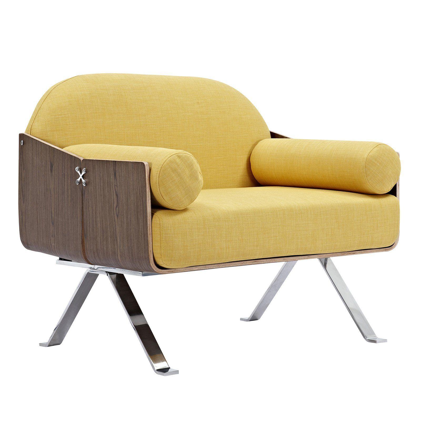 Papaya Yellow Jorn Chair Chair Mid Century Modern Furniture