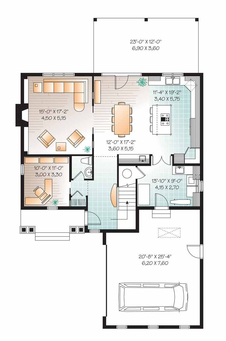 Traditional Style House Plan 3 Beds 2 5 Baths 2422 Sq Ft Plan 23 2557 House Plans Floor Plan Design Master Suite