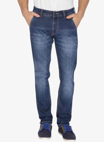Buy Sparky Blue Washed Slim Fit Jeans for Men Online India, Best Prices,  Reviews