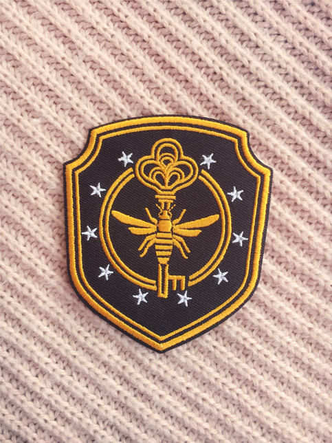 """Alien Movie Triangle 4.5/"""" Logo Sew Ironed On Badge Embroidery Applique Patch"""