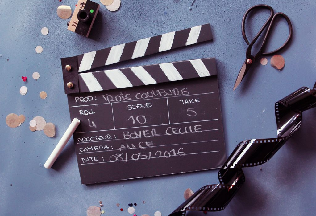 DIY clap de cinéma Clap cinéma, Décoration cinéma et