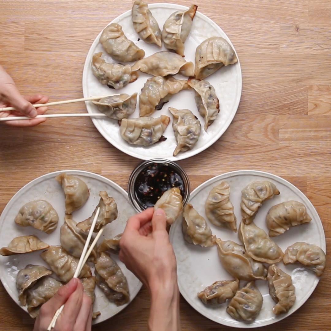 Selbstgemachte Dumplings