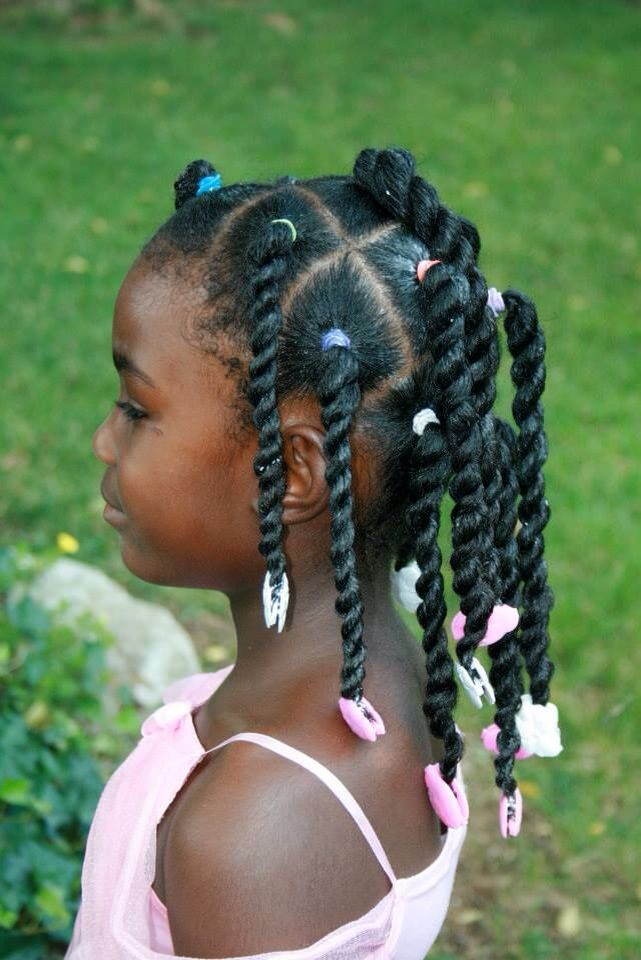 By The Fro Show Using The Little Lady Design In Pink And Sweet Pea Design In White Gabbybows Hair Styles Lil Girl Hairstyles Natural Hair Styles
