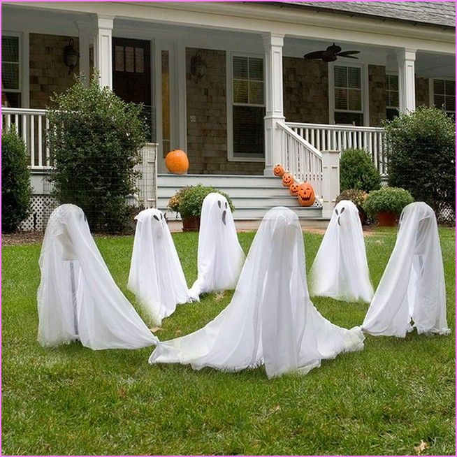 halloween yard decoration ideas homemade home design ideas - How To Decorate Outside For Halloween