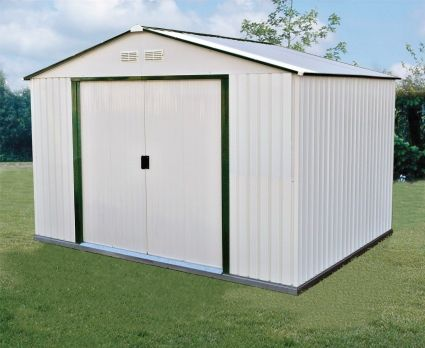 Duramax 10x10 Del Mar Colossus Metal Shed Green Trim Shed Building Plans Building A Shed Shed Plans