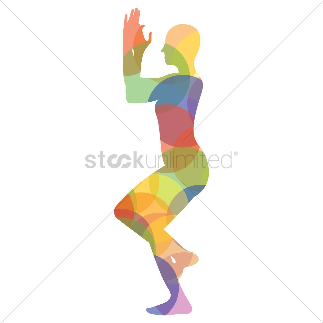 Eagle Pose Clipart