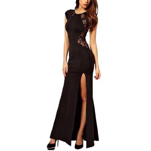 Damen Sexy Kleider Freund Style Spitzekleid Damenmode Schlitz-Kleid ...