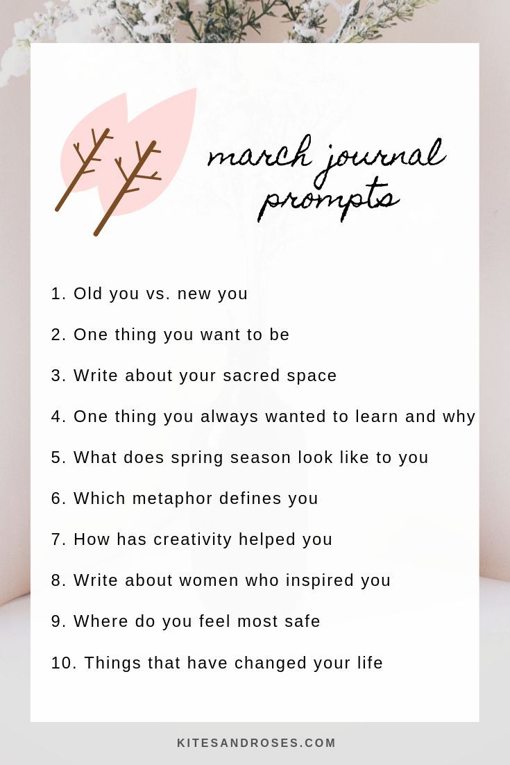 81 Journal Prompts That Will Inspire You In 2020 - Kites and Roses