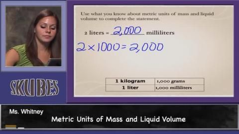 Know relative sizes of measurement units within one system of units including km, m, cm; kg, g; lb, oz.; l, ml; hr, min, sec. Within a single syste…
