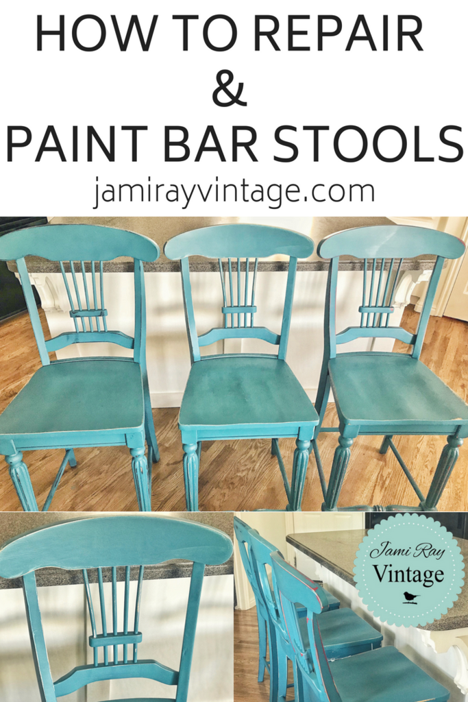 How To Repair And Paint Barstools   YouTube Video is part of Diy bar stools - Zeb does our repairs and gets asked a lot how to do certain repairs, so he's teaching you! In this video he will be repairing different issues on barstools   Watch Here Products Used DIY Paint in Vintage Linen DIY Paint in Bohemian Blue Fairy Chalk Mother Paint in Brookside  Sweet Pickins Milk Paint Top Coat