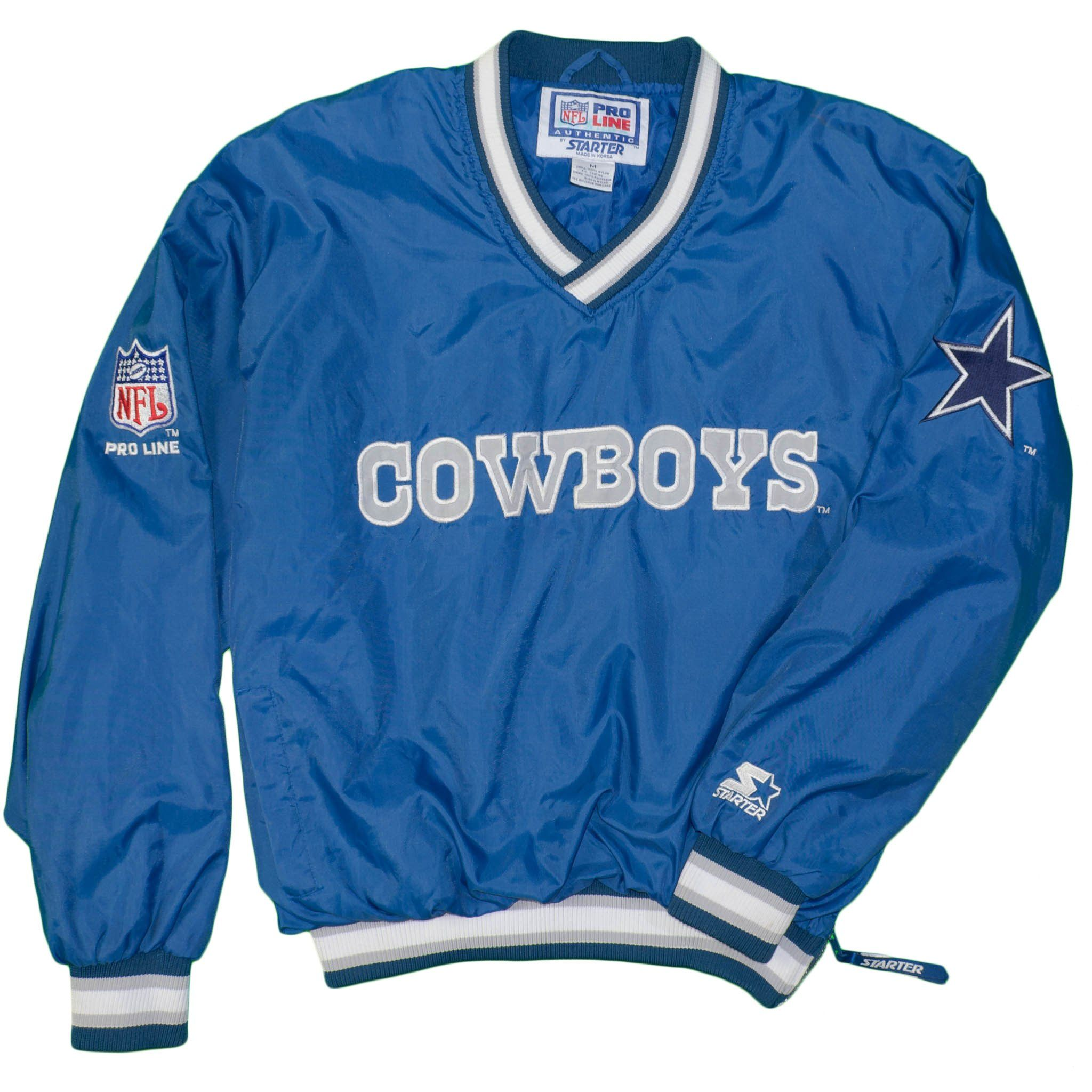1c16ac5cc NFL Dallas Cowboys Starter Jacket Men s Medium Vintage 1990 s Football Blue  Texas Patches Stars Sports Grid Iron – itisvintage