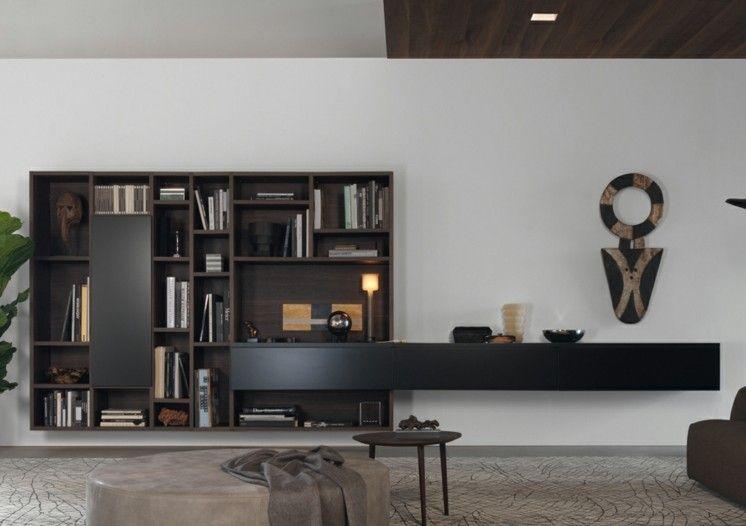 Schrankwand mit vielen Schubladen und integriertem Cuboard - wohnideen für wohnzimmer