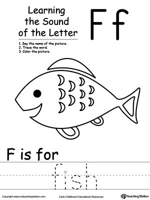 learning beginning letter sound f kindergarten letter sounds lettering alphabet worksheets. Black Bedroom Furniture Sets. Home Design Ideas