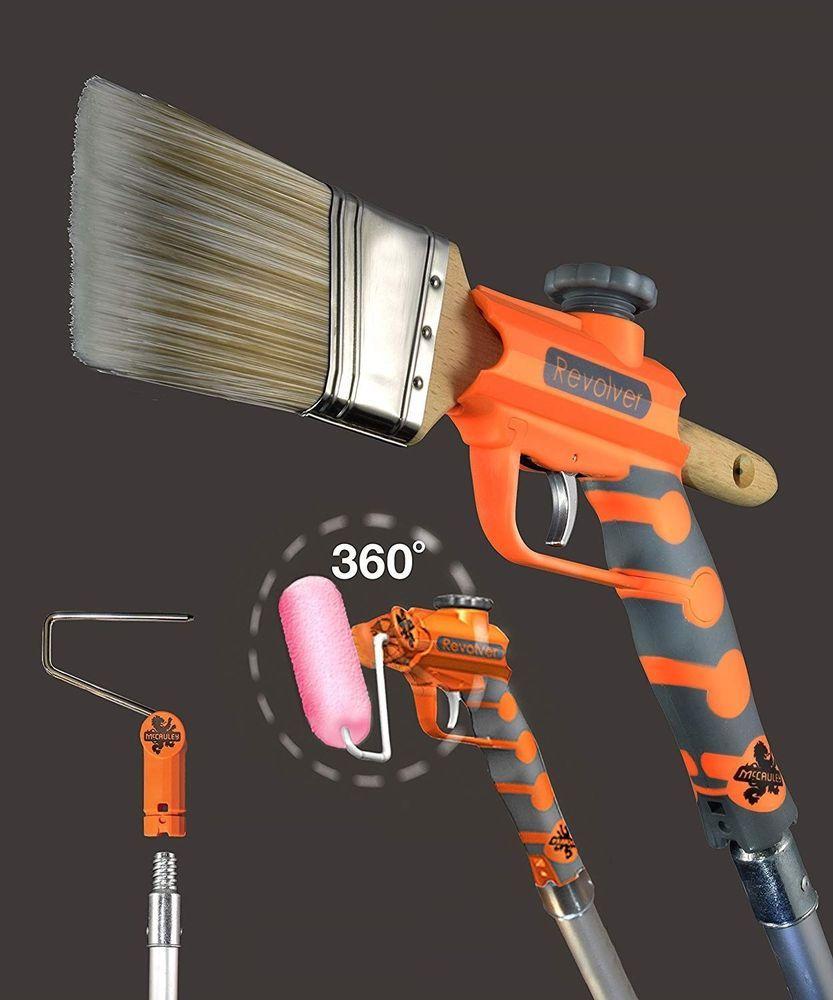 Brush Holder Adaptor and Roller Extender For Painting