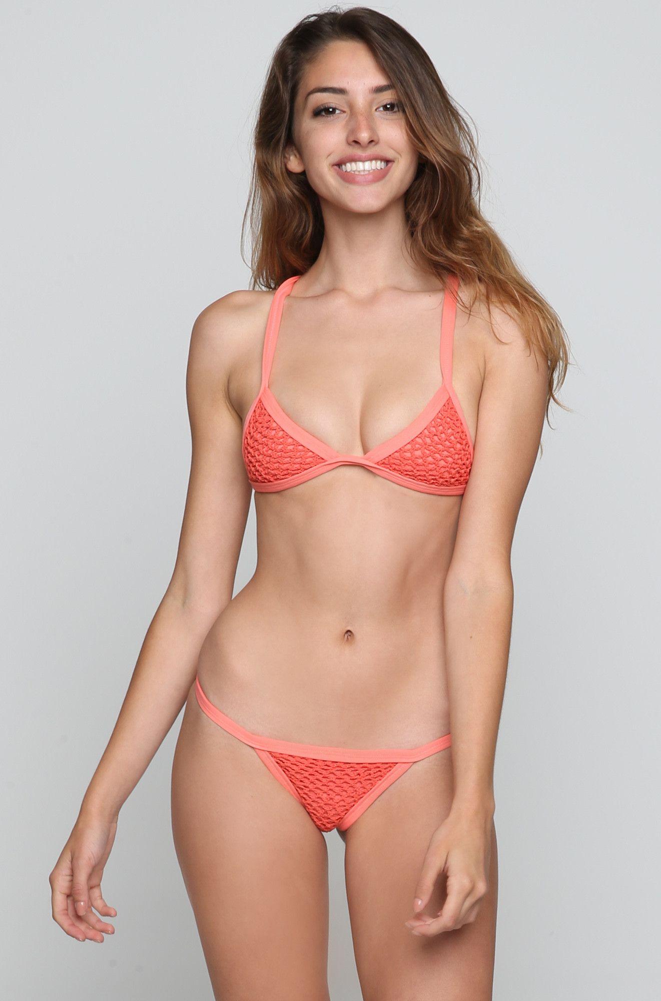 Posh Pua Kainalu Crochet Bikini Top - Papaya >> http://ss1.us/a/C65VmC2s