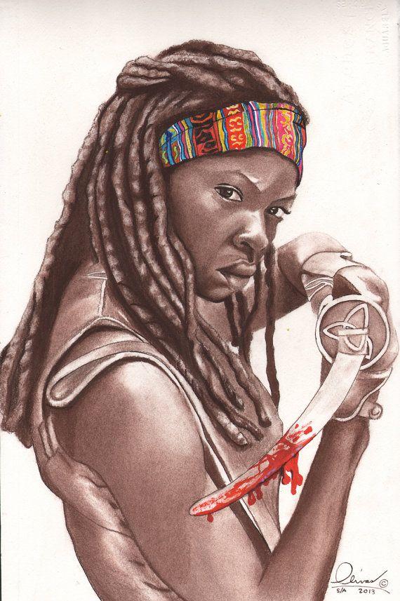 Michonne walking dead the walking dead pinterest anime and anim - Comment dessiner un zombie ...