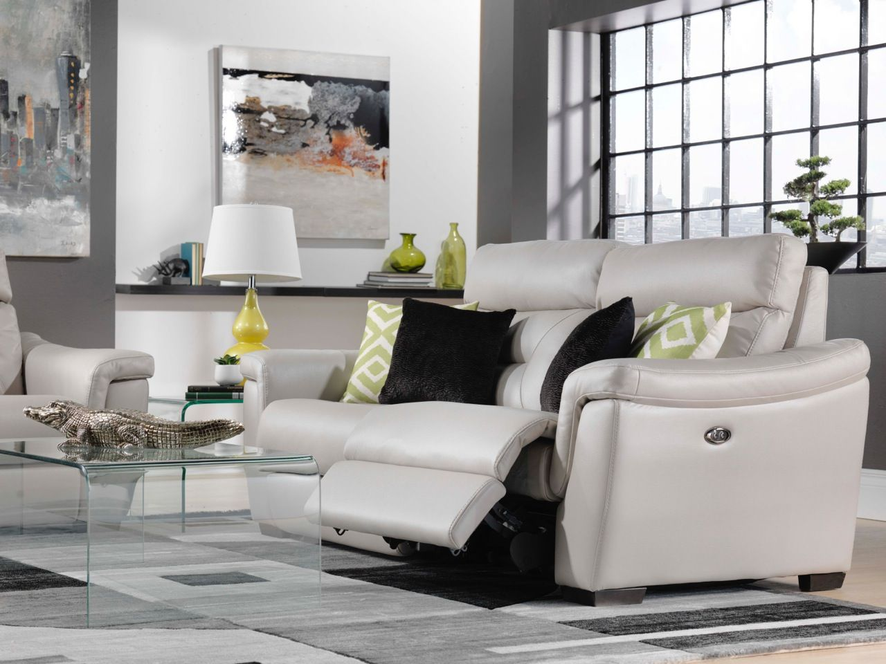 Euro Lounge. Create The Look And Feel Of A Chic, Modern European Living Room  With The Ralston Collection. Complete With Silver Grey, Leather Look  Upholstery ...