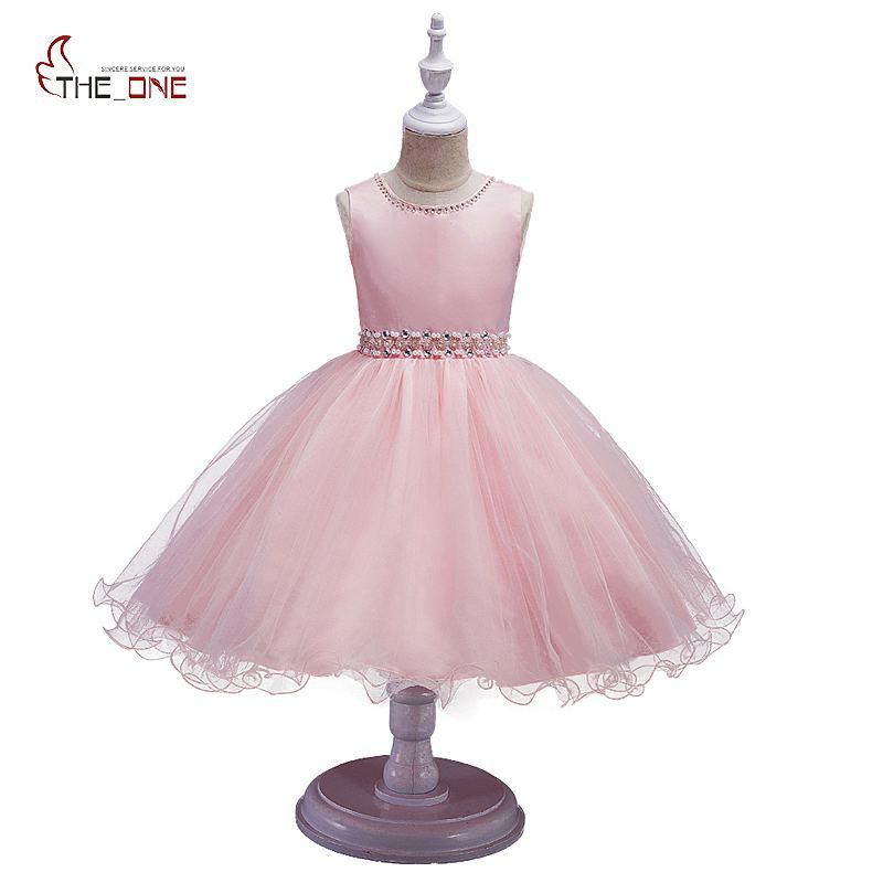 c707953a19e MUABABY Girls Princess Dress Summer Kids Sleeveless Diamond Beadings Party  Wedding Dress Children Girl Prom Ball Gown Costume. Yesterday s price  US   21.99 ...