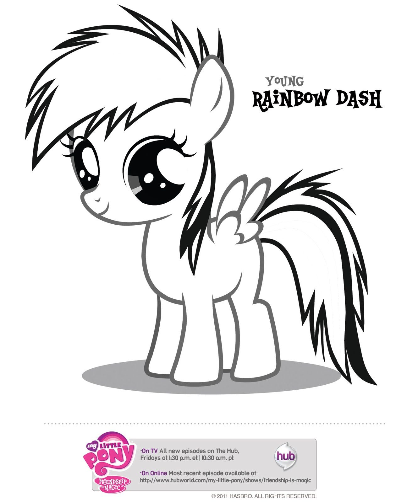 Young my little pony coloring pages -