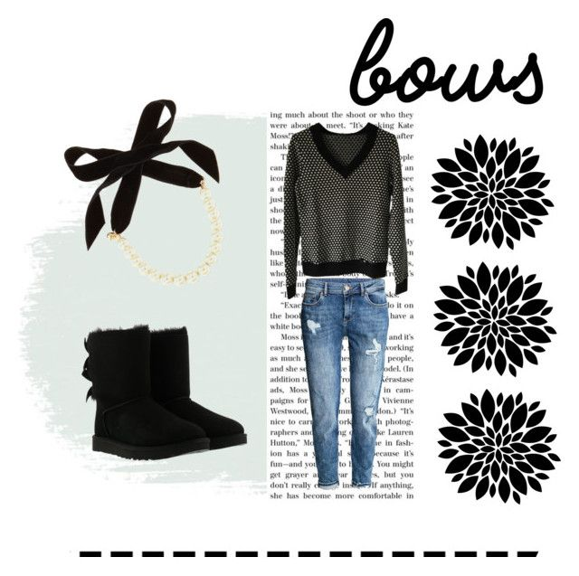 """""""#bows"""" by lynnb96 ❤ liked on Polyvore featuring H&M, UGG, Lulu Frost and Riani"""