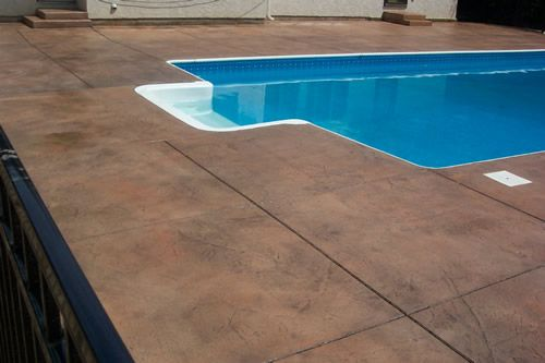 Pin By Amanda Morris On Outdoors Diy Concrete Patio Pool Decor