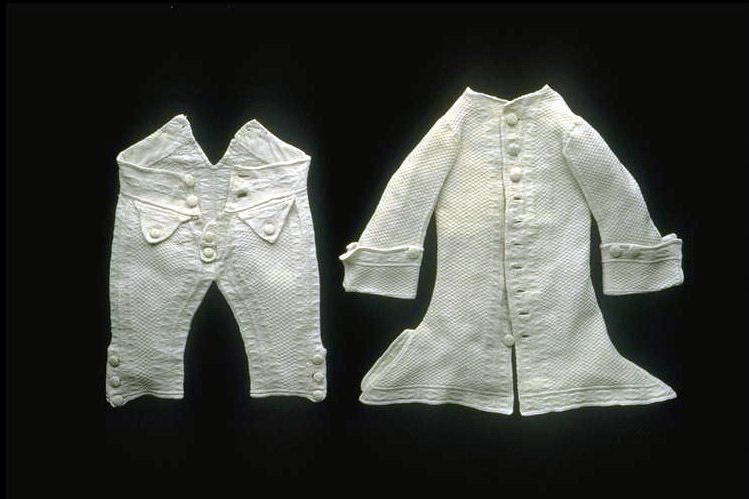 Suit ( boy ), Zurich, 1780, Consisting of white pants and sleeves vest. Cotton, knitted. 1780.