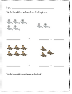 Arctic Animals Math Worksheet Freebie Arctic Animals Polar Animals Winter Kindergarten