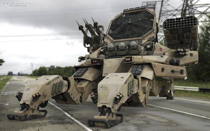 【#機械科幻 概念甲車集合】   各種幻想中的裝甲車、坦克,在尋找靈感時就可以多看看這些有趣的設計圖,也許會找到可以參考的結構喔!