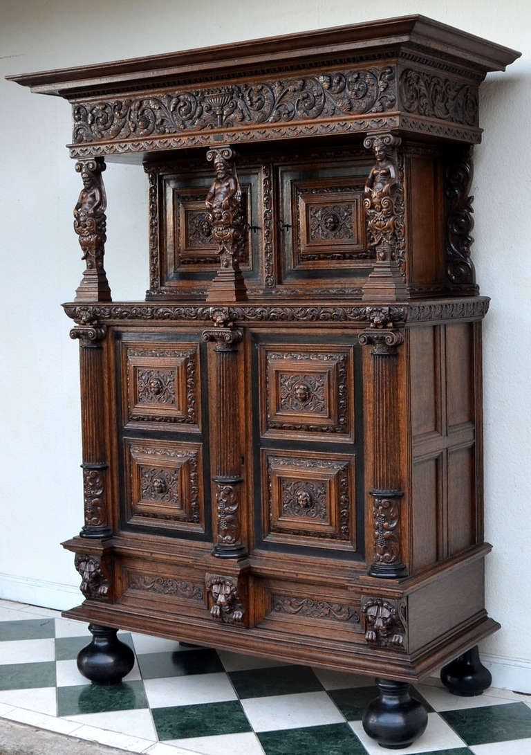 Rare Authentic Baroque Cabinet From Northern Germany Circa 1700 Image 2 Baroque Furniture Unique Furniture Pieces Ornate Furniture