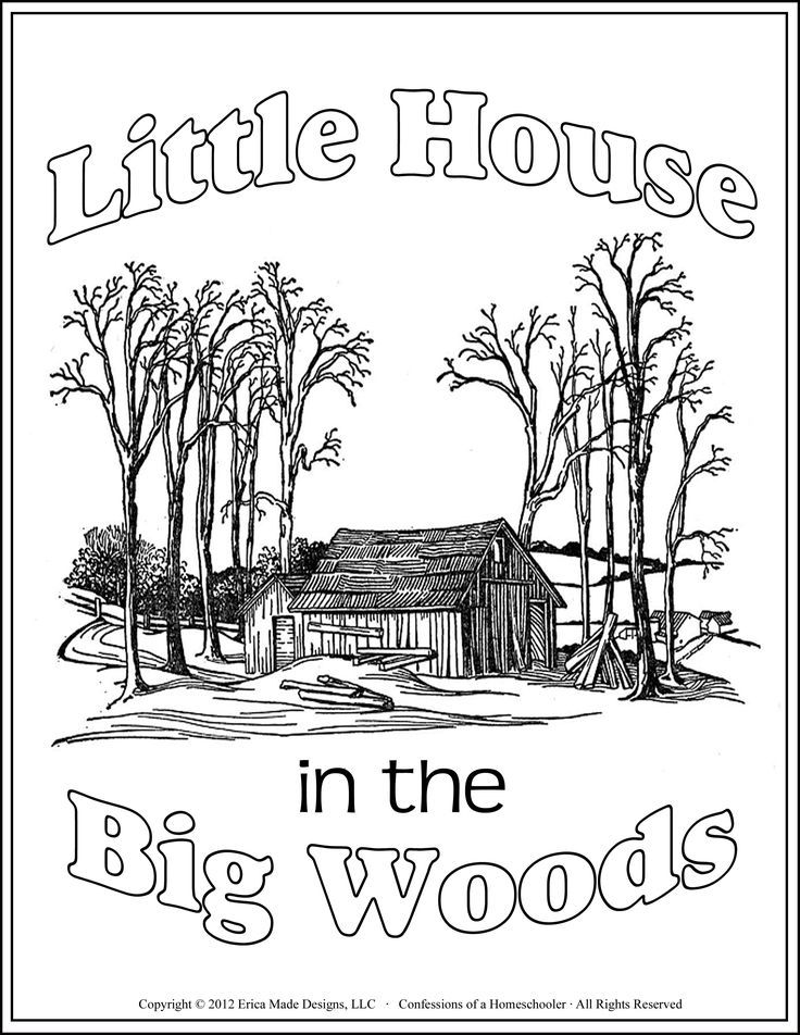 Image Result For Little House Coloring Pages