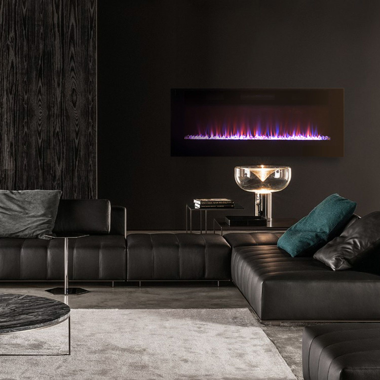 Front Venting Recessable Wall Mount Electric Fireplaces Wall