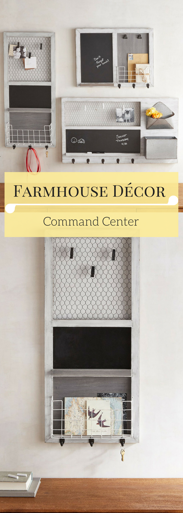 Farmhouse Décor - Command Center - Wall Art- Multifunctional Frames ...